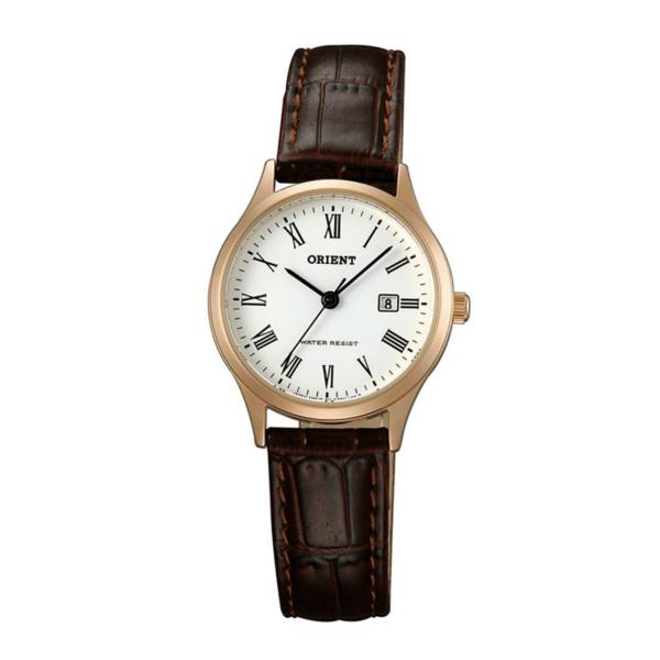 Orient 東方錶(FSZ3N006W)玫瑰金羅馬字復古腕錶/白面28mm