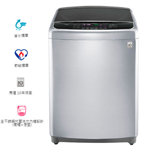 LG 樂金 WT-D176SG DD直立式變頻洗衣機 17公斤 典雅銀