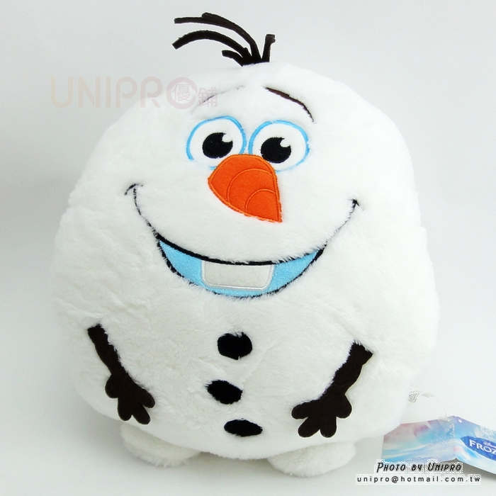 【UNIPRO】迪士尼 冰雪奇緣 雪寶 Q版 暖手枕 造型玩偶 娃娃 抱枕 靠枕 保暖枕 正版授權 Olaf