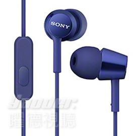 【曜德視聽】SONY MDR-EX150AP 深藍 時尚金屬 支援智慧型手機 免持通話 ★免運★送收納盒★