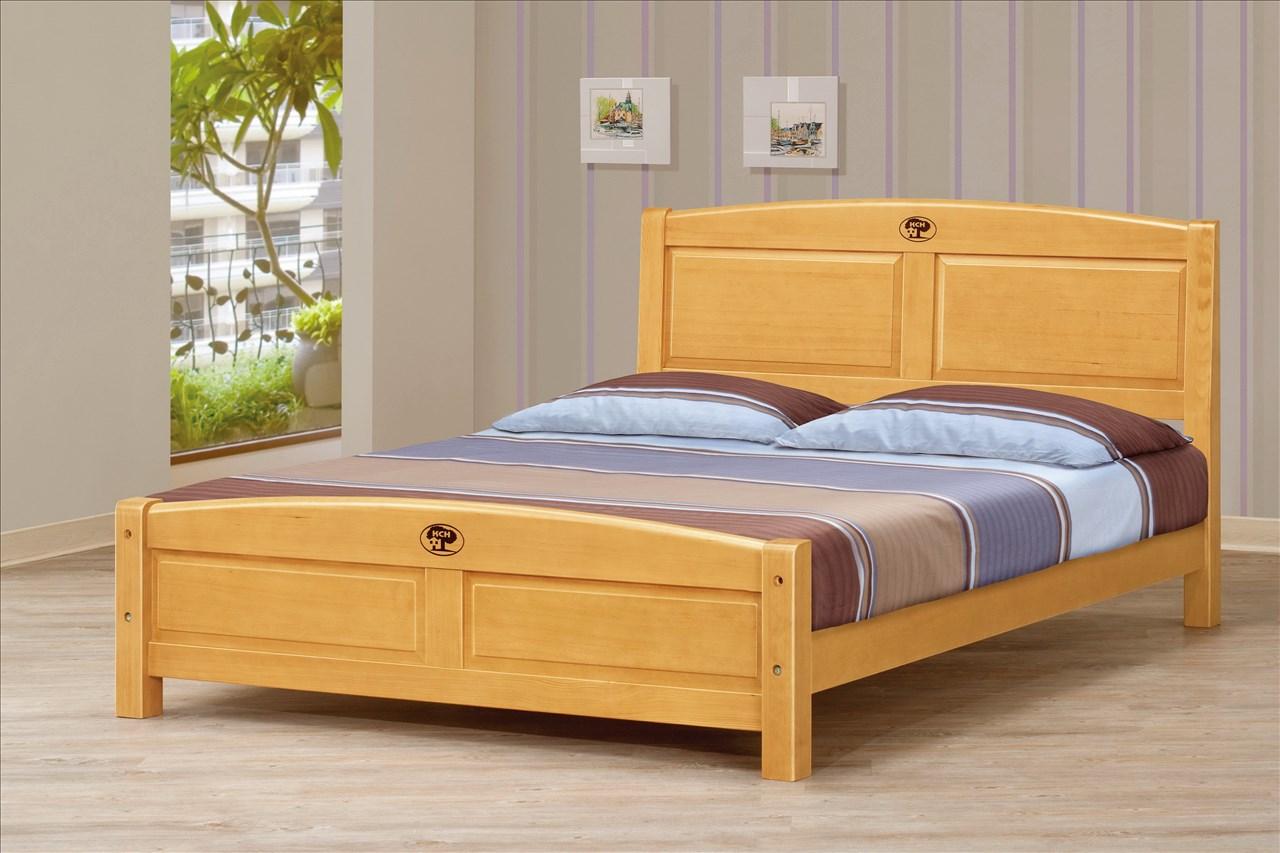 【石川家居】CM-174-3 5尺檜木雙人床架 (不含其他商品) 需搭配車趟