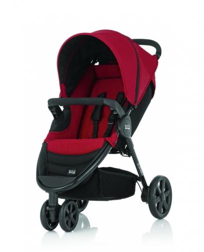 Britax - B-Agile單手收豪華三輪手推車 (紅) 加購Britax - Baby-Safe提籃享特價優惠!
