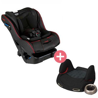 【悅兒樂婦幼用品舘】Combi 康貝 News Prim Long EG 汽車安全座椅+輔助汽座-黑x1【組合組】