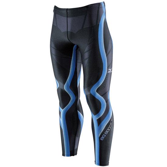 日本製無車缝 BG8000EX 男緊身褲 A60BP-31092(黑*藍)【美津濃MIZUNO】