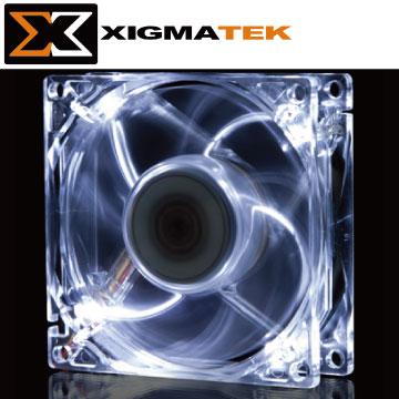 Xigmatek CLF-F8254 8cm 白光 LED 系統散熱風扇