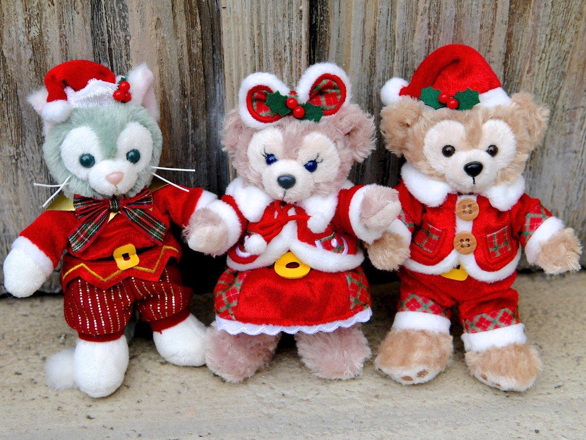 聖誕新品預購 迪士尼 海洋  Duffy 達菲 /  Shelliemay 雪莉玫 / Gelatoni 傑拉托尼 15cm 聖誕節珠鍊吊飾-站姿