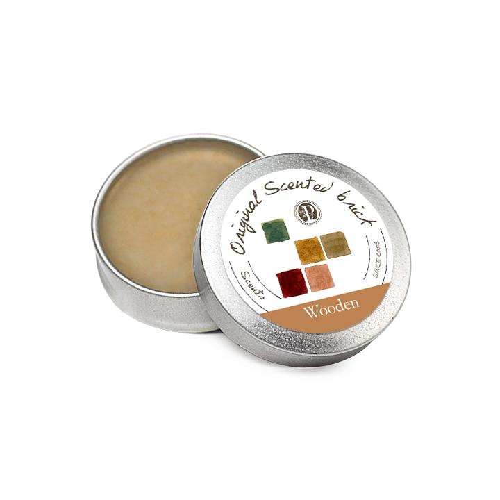 【OP 窩居小徑】Wooden 翠林幽靜 精油芳塊香磚-12±2g 隨身盒,純手工製作