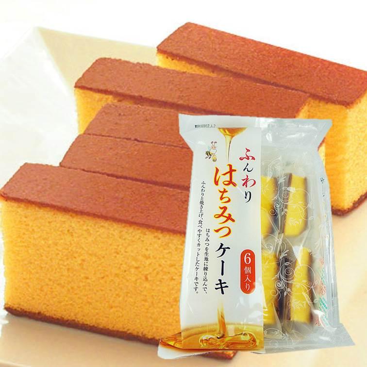 津具屋蜂蜜蛋糕6入198g 津具屋製菓 6個 ふんわりはちみつケーキ