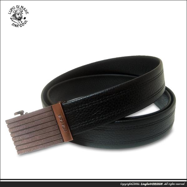 【SINA COVA】老船長橫紋咖啡頭紳士自動扣皮帶SC11507