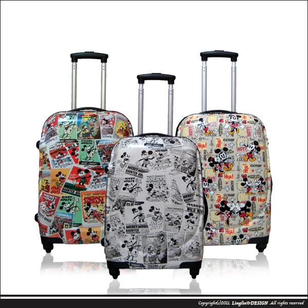 【Disney Mickey】28吋 復古米奇鏡面TSA海關鎖旅行箱/行李箱HF-2726