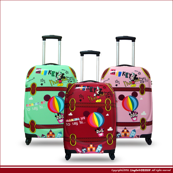 【Zocai】28吋超輕量歡樂米奇亮面拉桿旅行箱/行李箱HF-2728