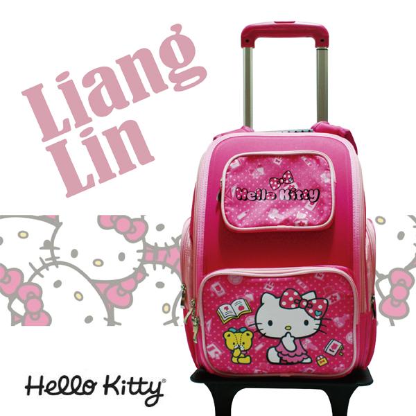 【Hello Kitty】 分離式護脊拉桿書包/小學生後背拉桿書包 407230