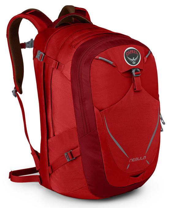 Osprey |美國|  NEBULA 34 電腦背包《男款》/15吋筆電背包 城市背包 旅行背包 -艷麗紅/Nebula34 【容量34L】