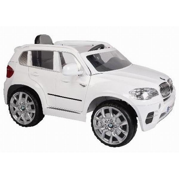 【淘氣寶寶】原廠授權 寶馬 BMW X5 雙馬達可開門 兒童電動車(白色)【贈 動物家族拉拉樂積木】