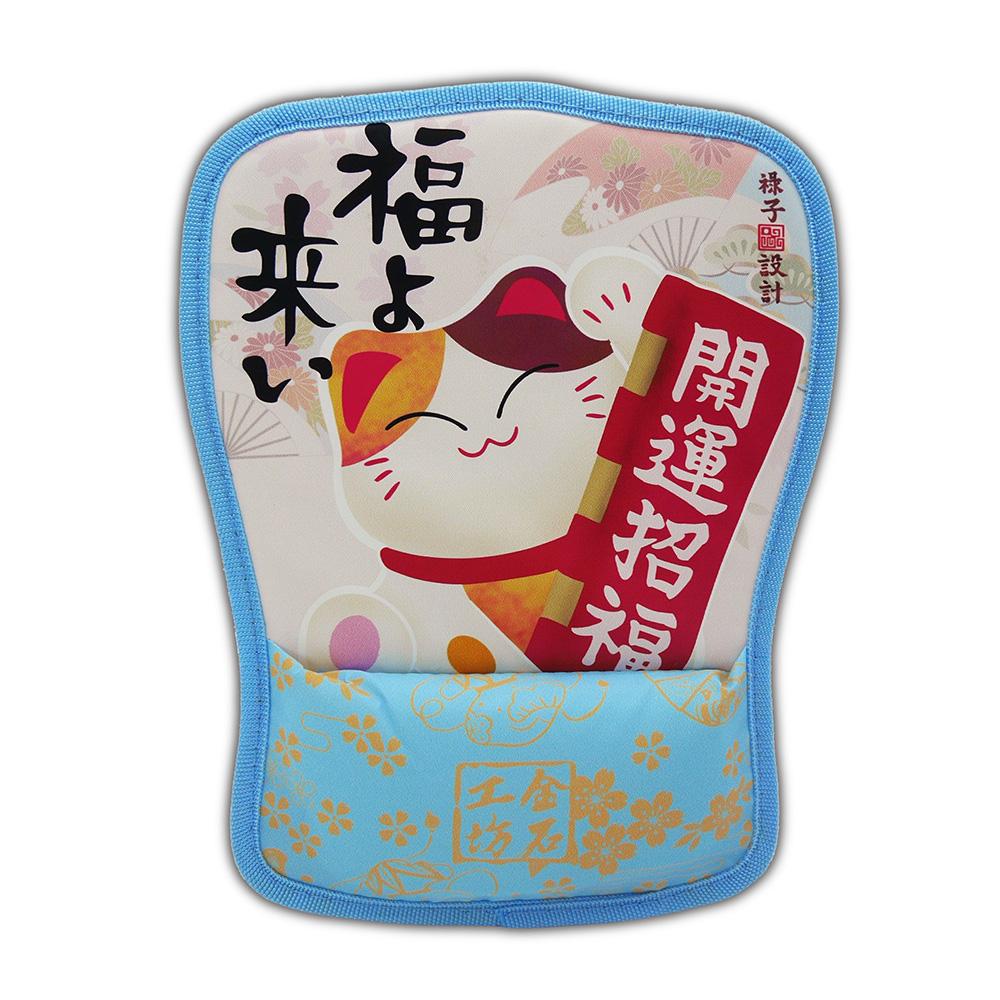 【金石工坊】招財貓開運福來滑鼠墊-商業繁盛 招財 求好運