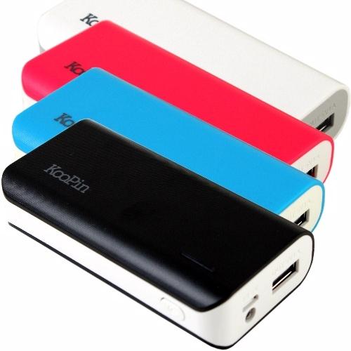通過BSMI認證 台灣製 KooPin 立體格紋行動電源 K2-5200 旅充/LED手電筒/移動電源/手機/MP3/MP4/禮品/贈品/TIS購物館