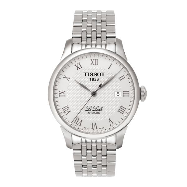 TISSOT天梭T41148333 力洛克經典羅馬機械腕錶/白面39.3mm