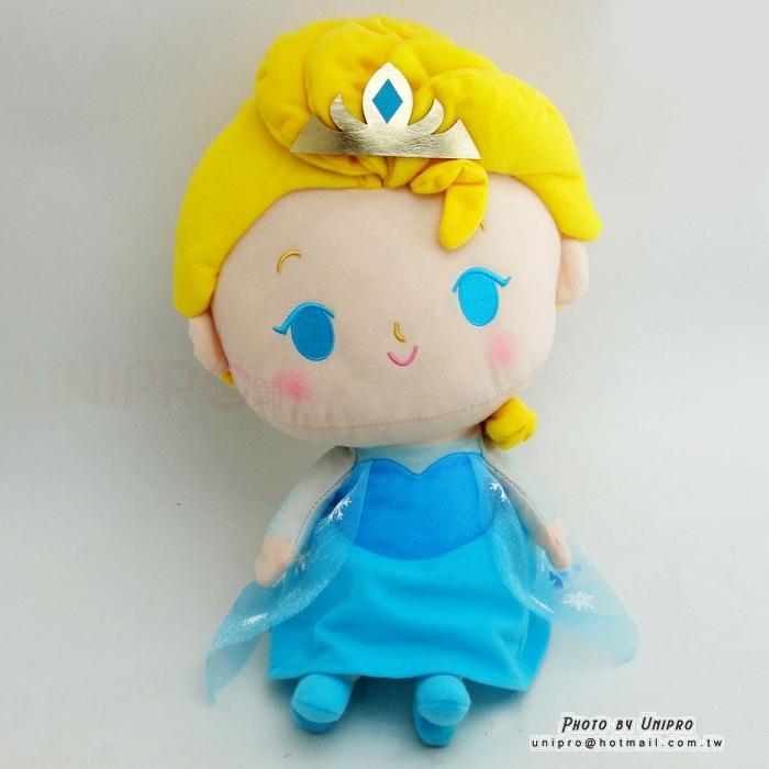 【UNIPRO】迪士尼正版 冰雪奇緣 FROZEN Q版 艾莎 公主 ELSA 38公分 絨毛娃娃 玩偶 禮物