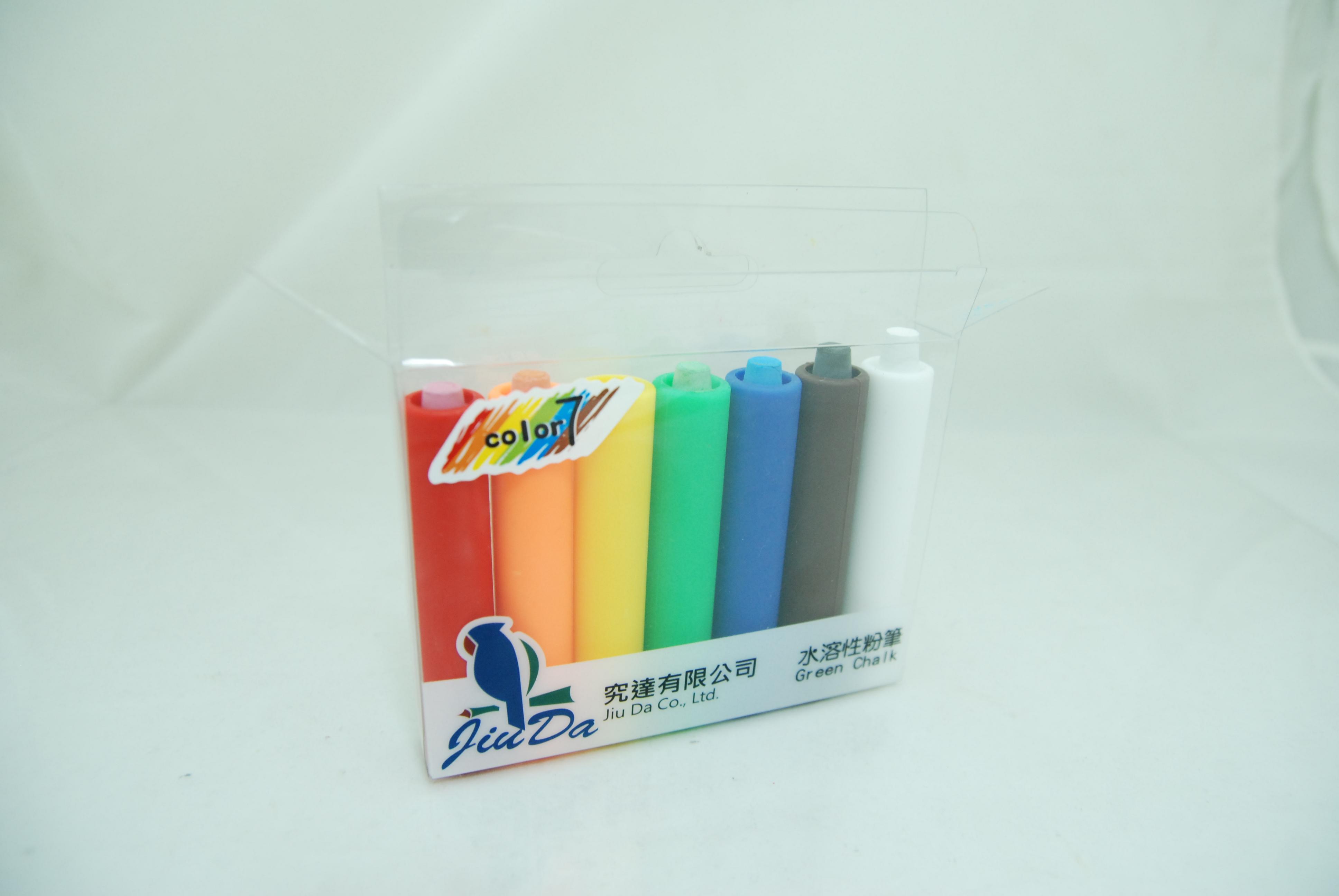 【桄群環保黑白板專家】水溶性粉筆(7支/盒)附筆套