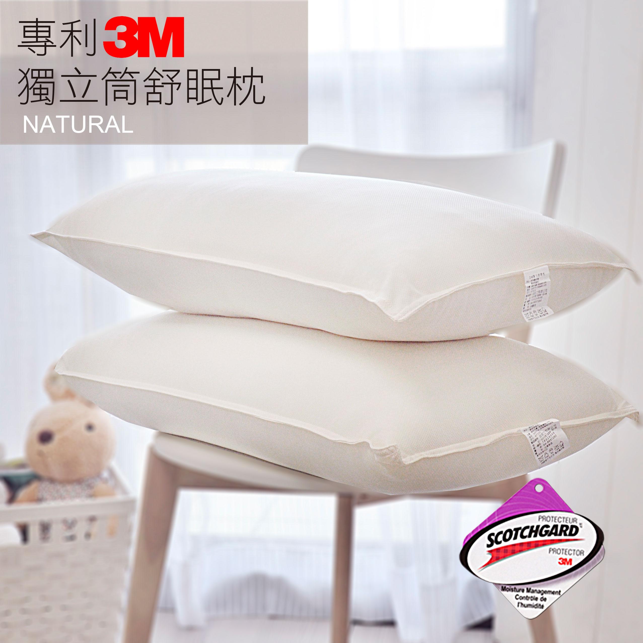 【買一送一】3M抗菌獨立筒舒壓枕(無附提袋)- 新款上市2入優惠價_HOUXURY台灣製