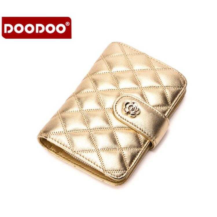 真皮菱格紋短夾 羊皮菱格紋錢包 嚴選優質羊皮皮夾#DOD047