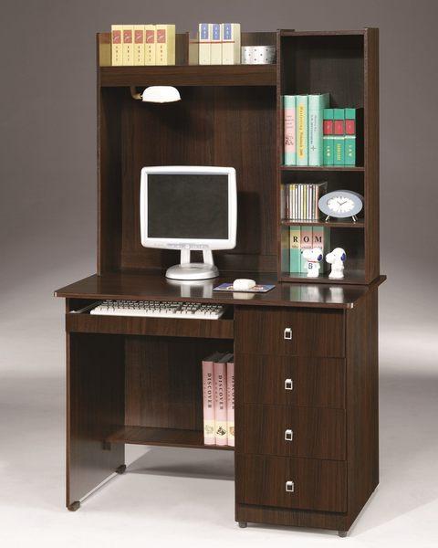 【石川家居】OU-755-5 胡桃吉米3.5尺電腦書桌 (不含其他商品) 需搭配車趟