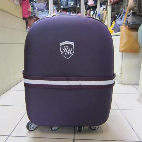 ~雪黛屋~ROBINSON MARTIN 拉桿行李箱 台灣製造品質保證360度靈活旋轉輪 鋁合金拉桿#9118A紫/黑