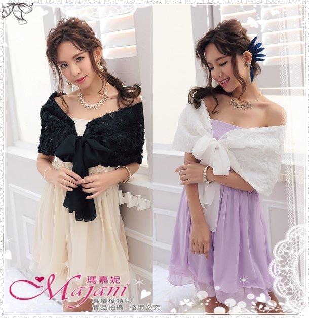 [瑪嘉妮Majani] 甜美 氣質 百搭 大尺碼 披肩 小外套 L~5XL 可搭配禮服/馬甲 特價369元 ct-121