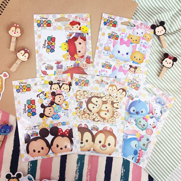 PGS7 迪士尼系列商品 - 迪士尼 TSUM TSUM 系列 票卡貼紙 米奇 米妮 奇奇 蒂蒂 史迪奇 愛麗兒 瑪莉貓