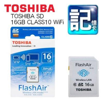 東芝 TOSHIBA FlashAir 16GB class10 WiFi 記憶卡 日本製 原廠盒裝1008.78