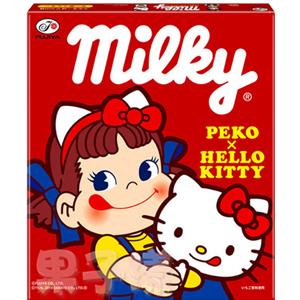 日本不二家 PekoXHello Kitty Milky 牛奶糖禮盒 內含二種口味