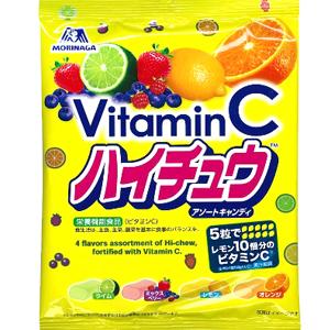 日本森永VitaminC嗨啾綜合水果軟糖 (內含四種口味)