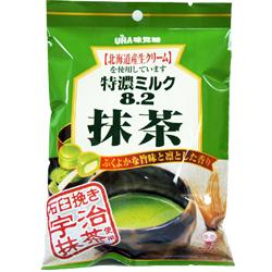日本UHA味覺糖 特濃8.2 石臼抹茶牛奶糖果[JP081]