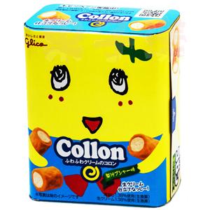 日本 固力果 Collon 船梨精 水梨娃娃 梨汁口味 捲心酥 奶油捲心餅