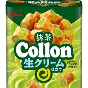 日本 固力果 Collon 抹茶奶油捲心酥 鬆脆華夫餅乾捲入抹茶奶油