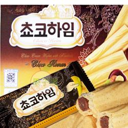 韓國CROWN 榛果夾心脆餅 威化餅 (巧克力)