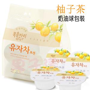 韓國花果園 柚子茶 奶油球包裝款 15個入 方便飲用 隨身帶著走