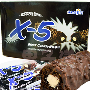 韓國Samjin X-5 黑色脆心巧克力棒[KR101]