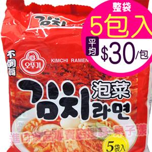 韓國不倒翁 泡菜風味拉麵(整袋5包入) [KR046A]