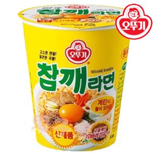 韓國不倒翁 OTTOGI 芝麻杯麵 直接沖泡即可享用【KR116】