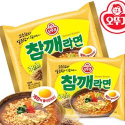 韓國不倒翁 芝麻風味拉麵 泡麵 (單包)[KR061]