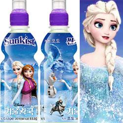 韓國Sunkist葡萄飲料 冰雪奇緣 限定包裝圖案[KR109]