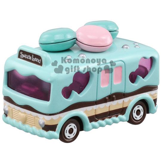 〔小禮堂〕馬卡龍 蛋糕巴士車 TOMICA小汽車《藍.馬卡龍.蛋糕》45周年紀念限定版