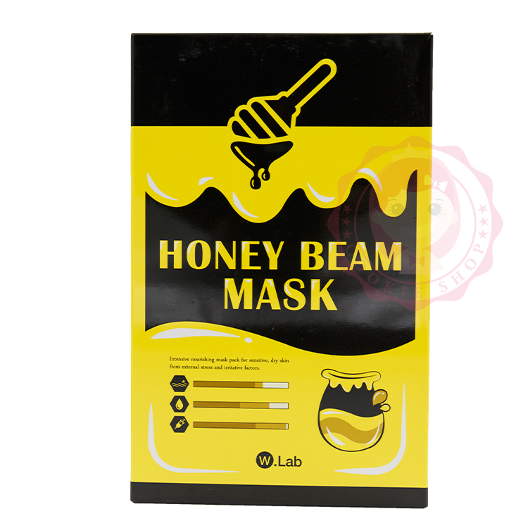 韓國 W.Lab 水光肌蜂蜜保濕面膜(10片/盒裝) 【庫奇小舖】