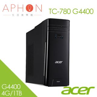 【Aphon生活美學館】Acer TC-780 G4400 Win10桌上型電腦(4G/1TB)-送50*80cm超厚感防霉抗菌釋壓記憶地墊