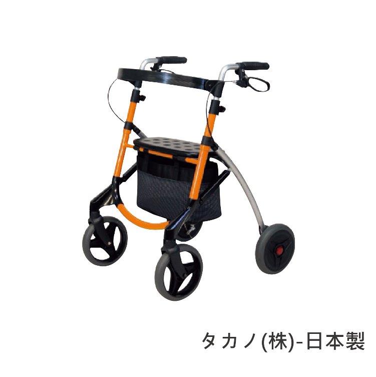 [預購] 機械式助行器 - 老人用品 銀髮族 可折疊收納 助行車 調整速度 附座椅 日本製 [W1385]