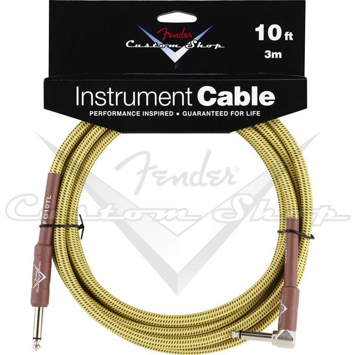 【非凡樂器】Fender® Custom Shop 10呎導線 Tweed 高品質/電吉他/貝斯/樂器用/單聲道輸出