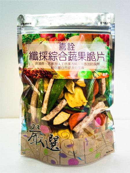 【喜詮】纖採綜合蔬果脆片※小包裝(150g/包)