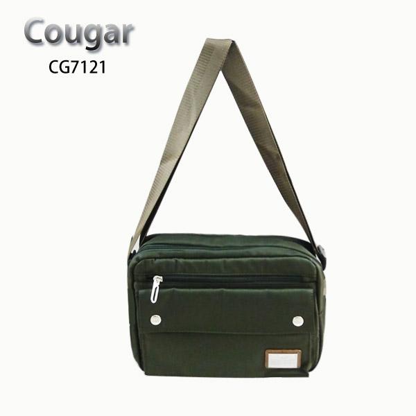 【加賀皮件】COUGAR 美洲豹 防潑水 多收納 側背包 單肩包 CG-7121