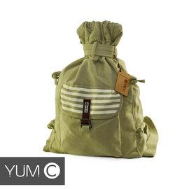 【風雅小舖】【美國Y.U.M.C. Melrose休閒系列Veshmeshok Rucksack 帆布束口袋後背包 香檳黃】電腦包/雙肩包